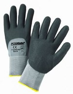 West Chester 715SNFTKD Microfoam Nitrile Dipped Gloves with Dotted Palm Size L - 12 pk.